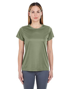 Military Green Ladies' Cool & Dry Sport Performance Interlock Tee