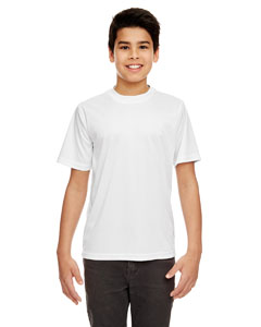White Youth Cool & Dry Sport Performance Interlock Tee
