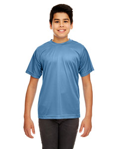 Indigo Youth Cool & Dry Sport Performance Interlock Tee