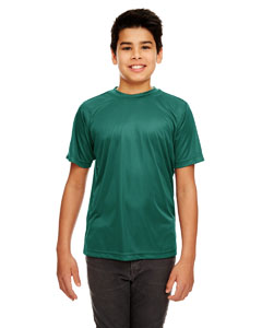 Forest Green Youth Cool & Dry Sport Performance Interlock Tee