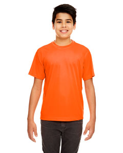 Bright Orange Youth Cool & Dry Sport Performance Interlock Tee