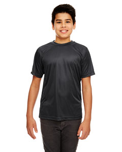 Black Youth Cool & Dry Sport Performance Interlock Tee