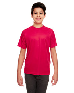 Red Youth Cool & Dry Sport Performance Interlock Tee