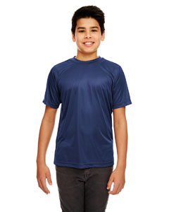 Navy Youth Cool & Dry Sport Performance Interlock Tee