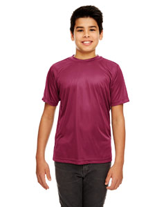 Maroon Youth Cool & Dry Sport Performance Interlock Tee