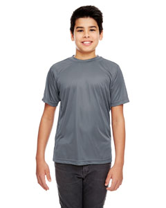 Charcoal Youth Cool & Dry Sport Performance Interlock Tee
