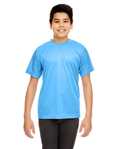 Columbia Blue Youth Cool & Dry Sport Performance Interlock Tee