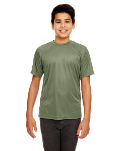 Military Green Youth Cool & Dry Sport Performance Interlock Tee