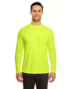 Bright Yellow Adult Cool & Dry Sport Long-Sleeve Performance Interlock Tee