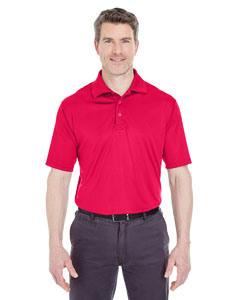 Red Men's Cool & Dry Sport Performance Interlock Polo