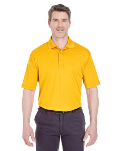 Gold Men's Cool & Dry Sport Performance Interlock Polo