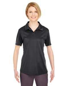 Black Ladies' Cool & Dry Sport Performance Interlock Polo