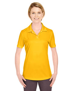 Gold Ladies' Cool & Dry Sport Performance Interlock Polo