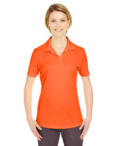 Orange Ladies' Cool & Dry Sport Performance Interlock Polo