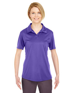 Purple Ladies' Cool & Dry Sport Performance Interlock Polo