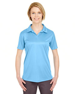 Columbia Blue Ladies' Cool & Dry Sport Performance Interlock Polo
