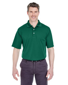 Forest Green Men's Cool & Dry Stain-Release Performance Polo