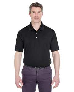Black Men's Cool & Dry Stain-Release Performance Polo