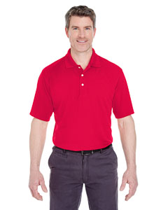 Red Men's Cool & Dry Stain-Release Performance Polo