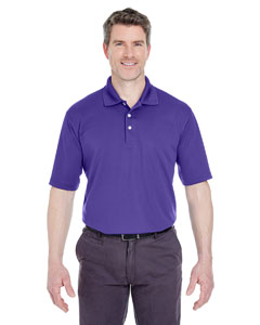 Purple Men's Cool & Dry Stain-Release Performance Polo