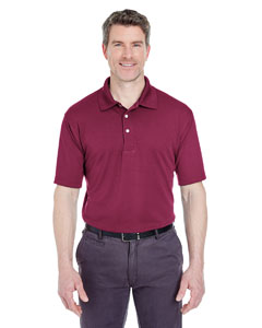 Maroon Men's Cool & Dry Stain-Release Performance Polo