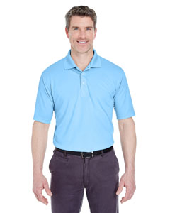 Columbia Blue Men's Cool & Dry Stain-Release Performance Polo