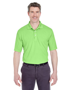 Light Green Men's Cool & Dry Stain-Release Performance Polo