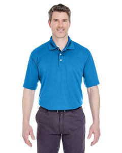 Pacific Blue Men's Cool & Dry Stain-Release Performance Polo