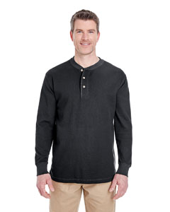 Black Adult Mini Thermal Henley