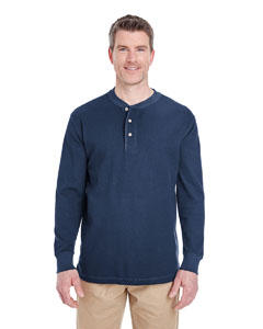 Navy Adult Mini Thermal Henley