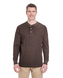 Chocolate Adult Mini Thermal Henley