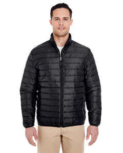 Black Adult Quilted Puffy Jacket