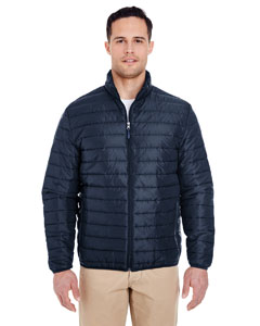 Navy Adult Quilted Puffy Jacket