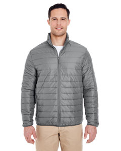 Silver Adult Quilted Puffy Jacket