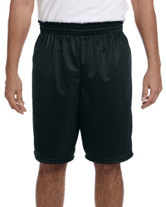 Black 100% Polyester Tricot Mesh Shorts