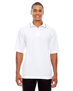 White 701 Edry® Men's Needle-Out Interlock Polo