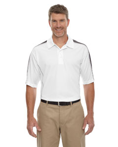 White/blkslk 866 Eperformance™ Men's Piqué Colorblock Polo