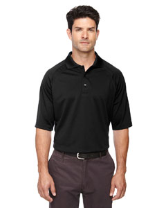 Black 703 Eperformance™ Men's Ottoman Textured Polo