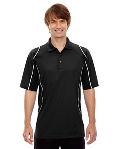 Black 703 Eperformance™ Men's Velocity Snag Protection Colorblock Polo with Piping