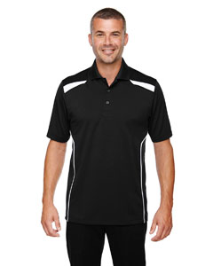 Black 703 Eperformance™ Men's Tempo Recycled Polyester Performance Textured Polo
