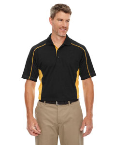 Blk/cmps Gld 464 Eperformance™ Men's Fuse Snag Protection Plus Colorblock Polo