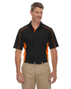 Black/orange 468 Eperformance™ Men's Fuse Snag Protection Plus Colorblock Polo