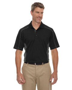 Black 703 Eperformance™ Men's Fuse Snag Protection Plus Colorblock Polo