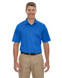 Nauticl Blue 413 Extreme Eperformance™ Men's Stride Jacquard Polo