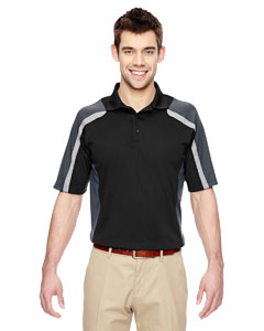 Black 703 Men's Eperformance™ Strike Colorblock Snag Protection Polo