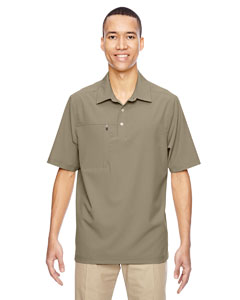 Stone 019 Men's Excursion Crosscheck Performance Woven Polo