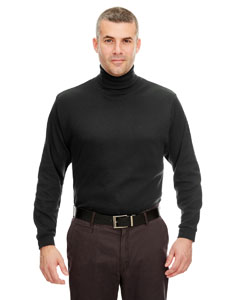 Black Adult Egyptian Interlock Long-Sleeve Turtleneck