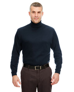 Navy Adult Egyptian Interlock Long-Sleeve Turtleneck