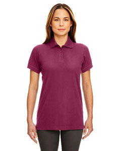 Burgundy Ladies' Classic Piqué Polo
