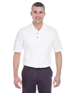 White Men's Classic Piqué Polo
